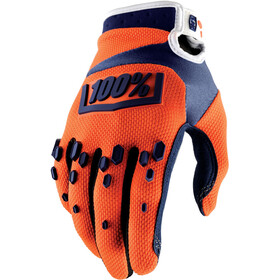 100% Airmatic Gloves orange/navy
